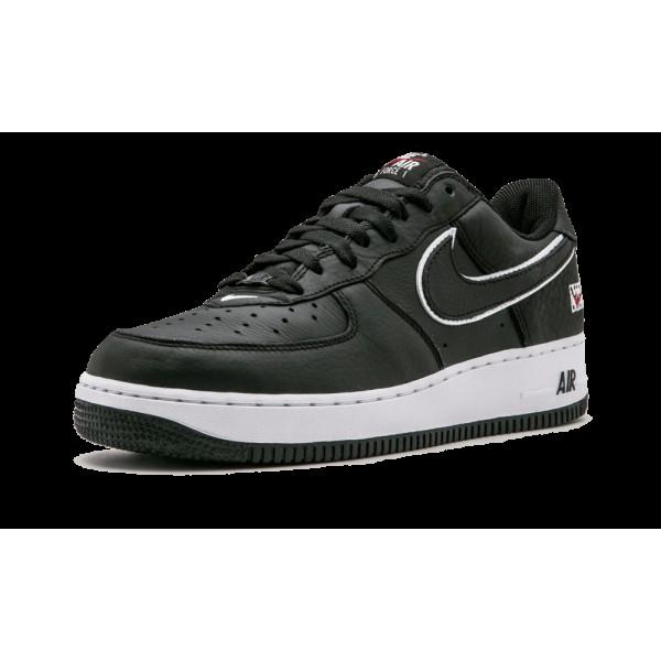 Nike Air Force 1 Low Retro Noir/Blanche/Varsity Rouge 845053-002