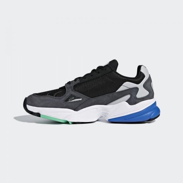 Adidas Falcon Noir Gris Femme Lifestyle Shoes F352...