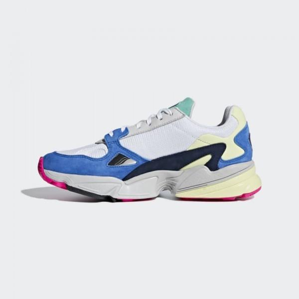 Adidas Falcon Blanche Bleu Femme Running Shoes BB9...