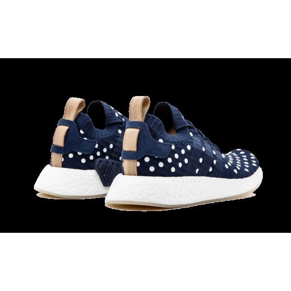 Adidas NMD_R2 PK Femme Collegiate Marine/Blanche/Bleu BA7560