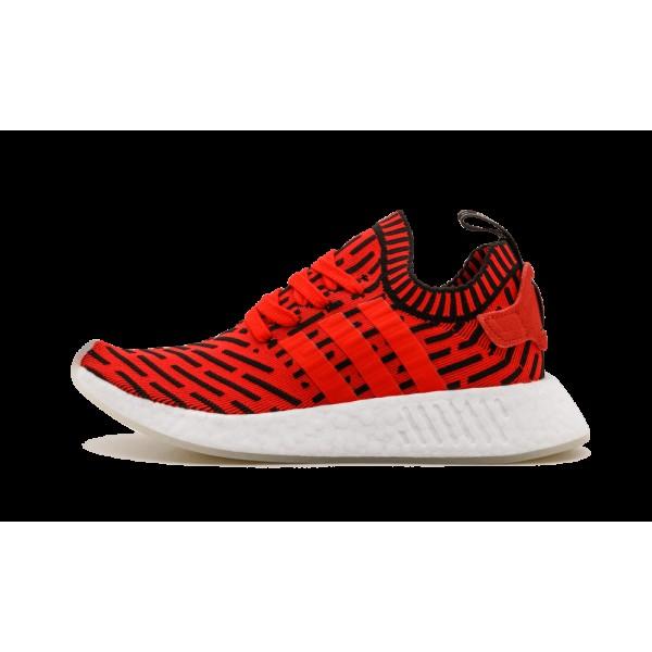 Adidas Originals NMD R2 Primeknit Rouge/Noir/Blanc...