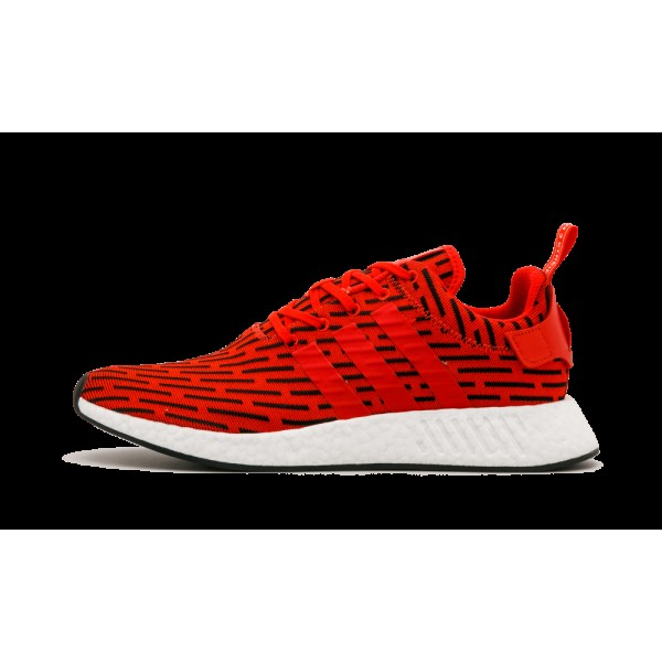 Adidas Original NMD_R2 Rouge/Blanche BY2098