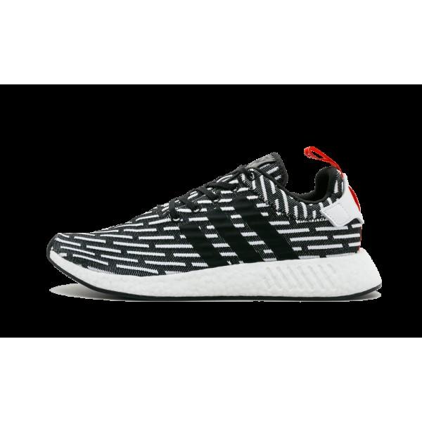 Adidas NMD_R2  Prime Knit Running Noir/Blanche BB2...