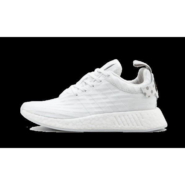Adidas NMD_R2 Femme Blanche/Clear Granite BY2245