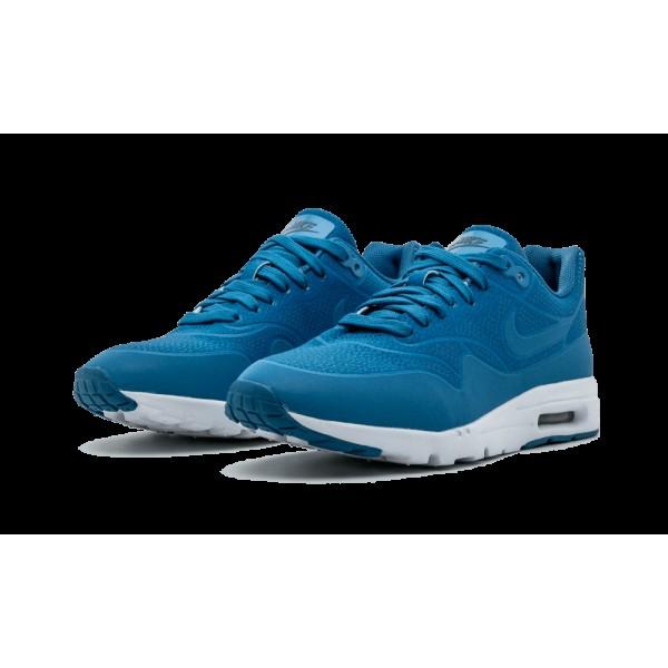 Femme Nike Air Max 1 Ultra Moire Bleu Chaussures 704995-402