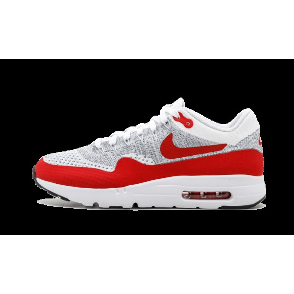 Nike Air Max 1 Ultra Flyknit 843384-101 Blanche Ro...