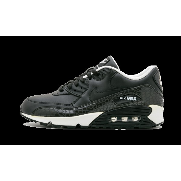 Nike Air Max 90 Leather Reflective Crocodile Noir ...