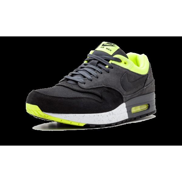 Nike Air Max 1 Premium Noir Anthracite Volt 512033-002