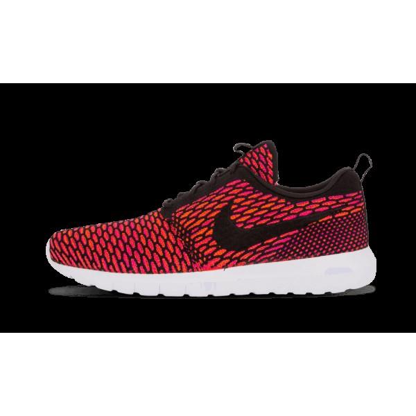 Nike Homme Flyknit RosheRun Noir/Blanche/FireBerry...