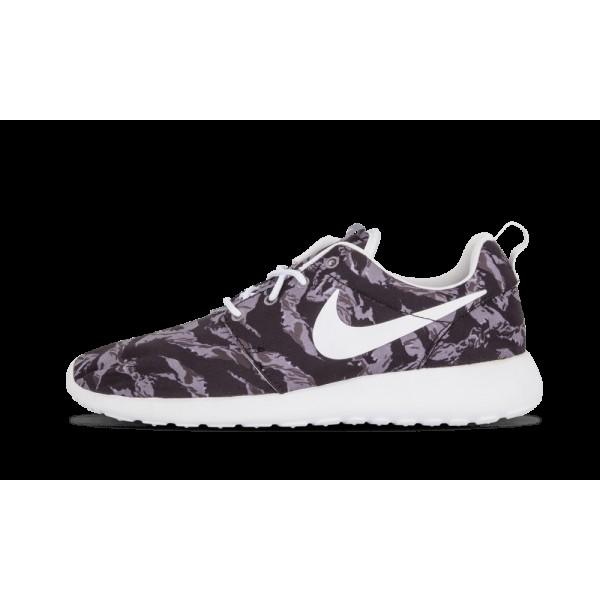 Nike Roshe Run Print Wolf Gris/Blanche 655206-014 ...