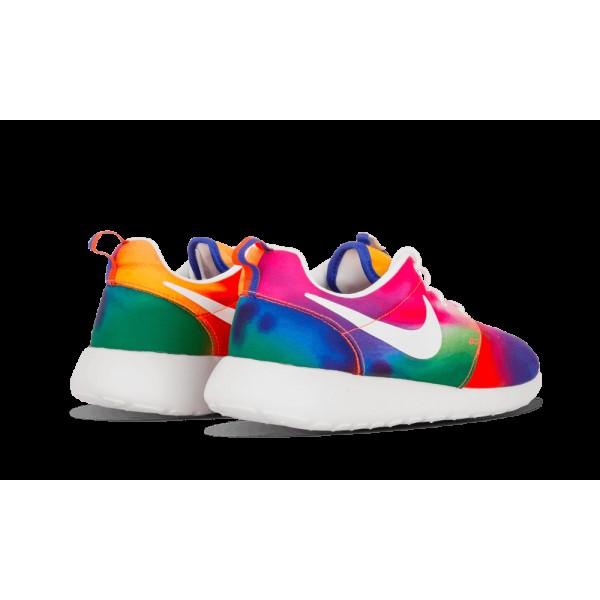 Nike Roshe Run Print Court Pourpre/Blanche Total Crimson 655206-518