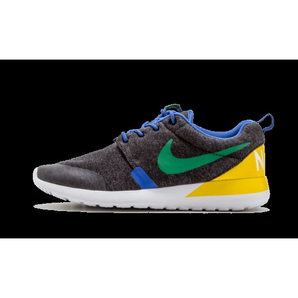 Nike Air Rosherun QS Brazil Noir Heather Pine Vert...
