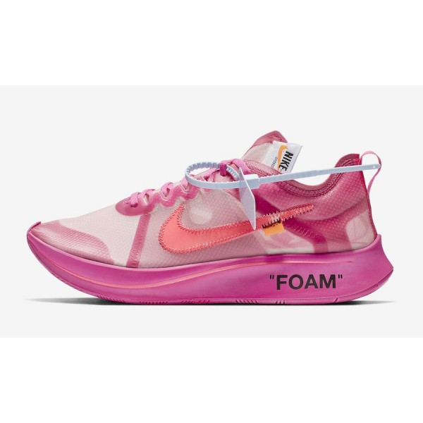 Off-White x Nike Zoom Fly SP Tulip Rose Chaussures...