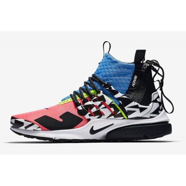 Acronym x Nike Air Presto Mid Racer Rose Chaussure...