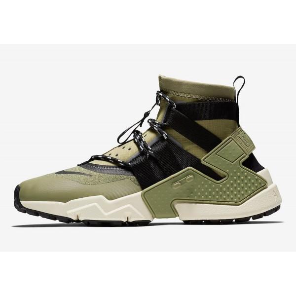 Nike Air Huarache Gripp Olive Noir Chaussures Homm...