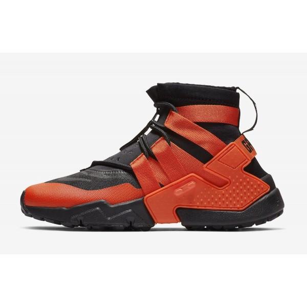 Nike Air Huarache Gripp Noir Team Orange Chaussure...