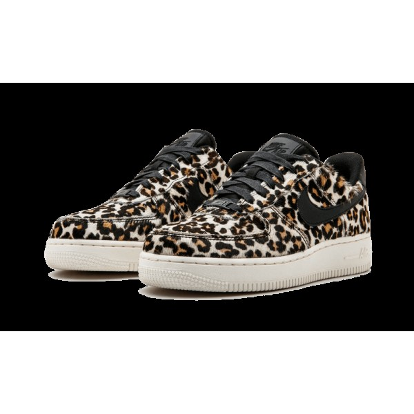 "Nike Femme Air Force 1 07 LX ""Snow Leopard"" 898889-004 Noir"