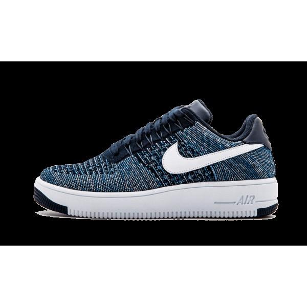 Nike Af1 Ultra Flyknit Low Obsidian Bleu Blanche A...
