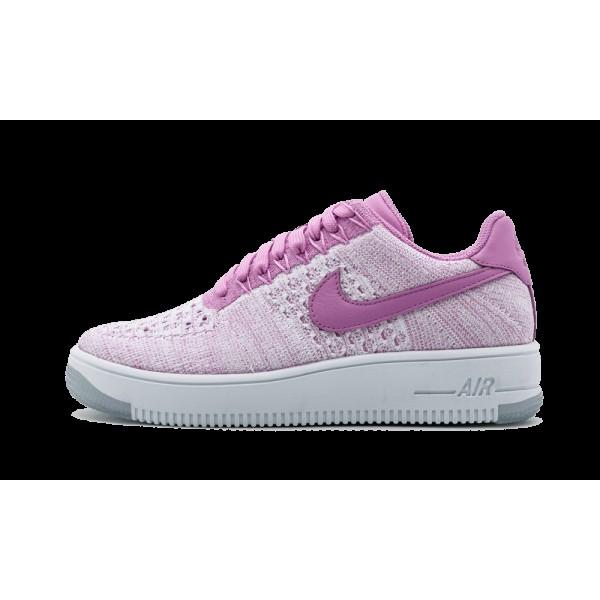 Nike 820256-500 Femme Air Force 1 Flyknit Low